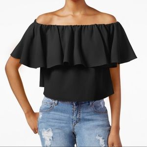 Cropped strapless top